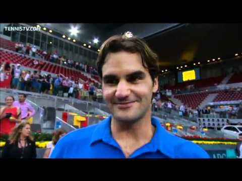 Federer Discusses Madrid Final Victory Over Berdych