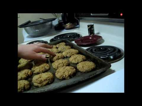 ASMR Baking Oatmeal Chocolate Chip Cookies (whispered)