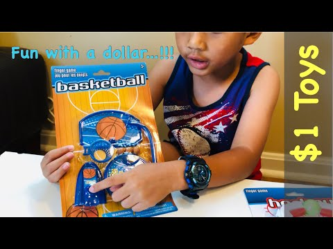 $1 Basketball  🏀  And $1 Hockey  🏑  From Dollar Tree   Fun With ONLY $1   $1 Toy Reviews