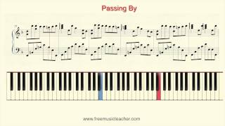 "How To Play Piano Yiruma ""Passing By"" Piano Tutorial by Ramin Yousefi"