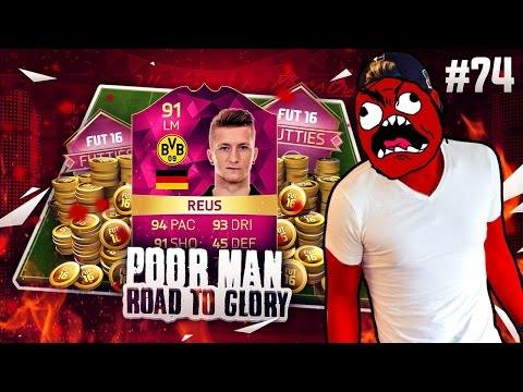 CAN I WIN THE 91 PINK REUS?!?!? - POOR MAN RTG #74 - FIFA 16 Ultimate Team FUTTIES CUP