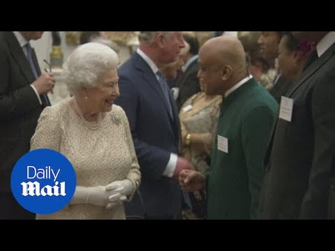 The Queen receives Commonwealth leaders at Buckingham Palace - Daily Mail