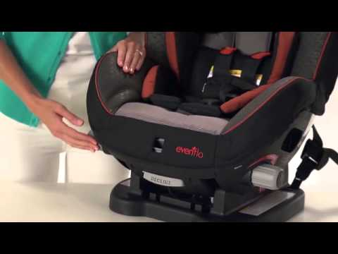 evenflo triumph lx convertible car seat - youtube