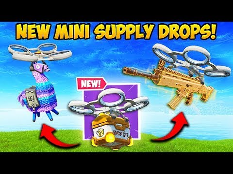 *NEW* MINI SUPPLY DROPS ARE EPIC! - Fortnite Funny Fails and WTF Moments! #565