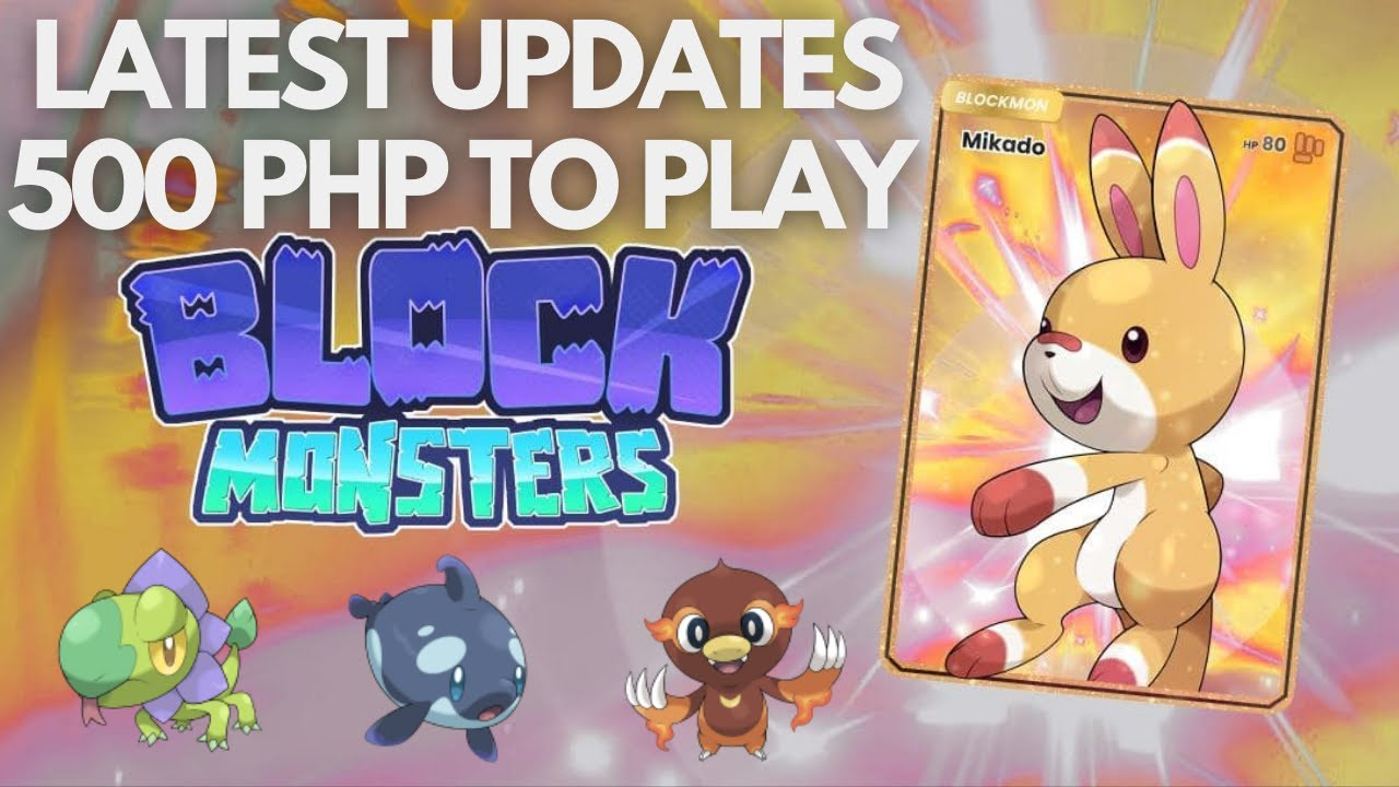 Download BLOCK MONSTERS Low Entry NFT Game Updates | Classic Pokemon (Tagalog)