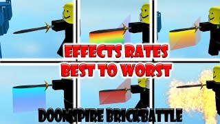 Rating the Effects Best to Worst on Doomspire Brickbattle