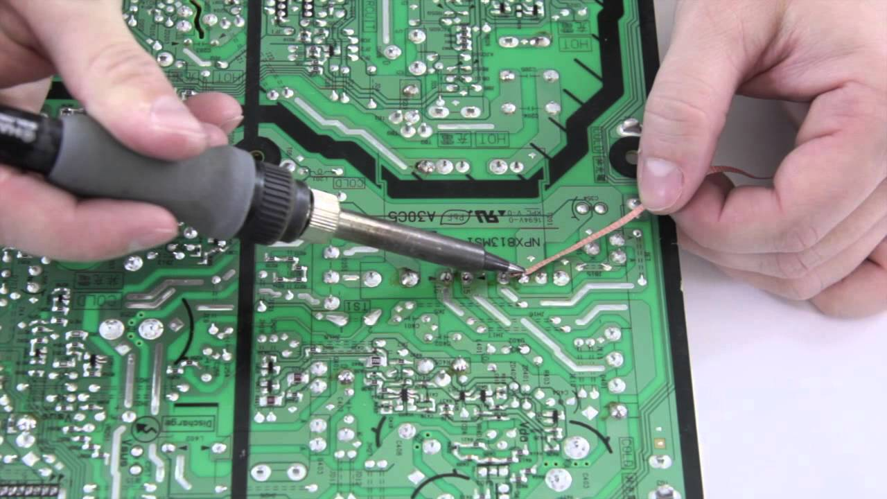 """how to desolder using wick \u0026 braid remove solder from board desoldering pump solder points for sony""""s latest fluster"""