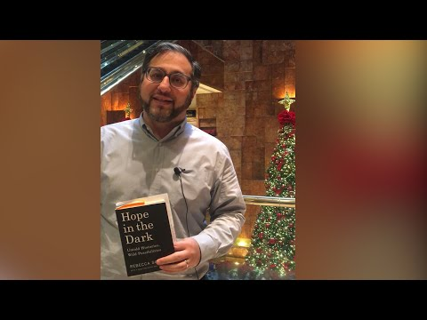 Jeff Bergman reads excerpt from Hope in the Dark in Trump Tower lobby