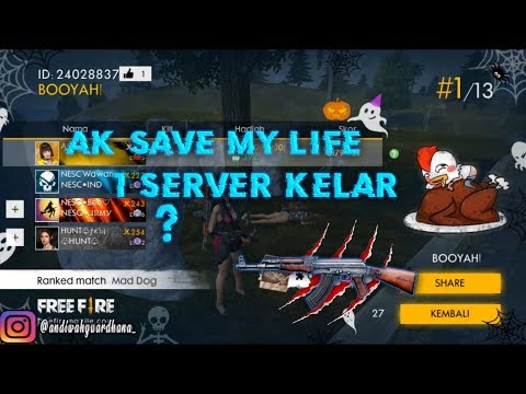 AK SAVE ME? DAMAGE PARAH SIH!!! 1 SERVER BERSIH?? - Free Fire : Battleground Indonesia