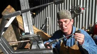 Do-it-yourself Log Furniture Welding On Arms By Mitchell Dillman
