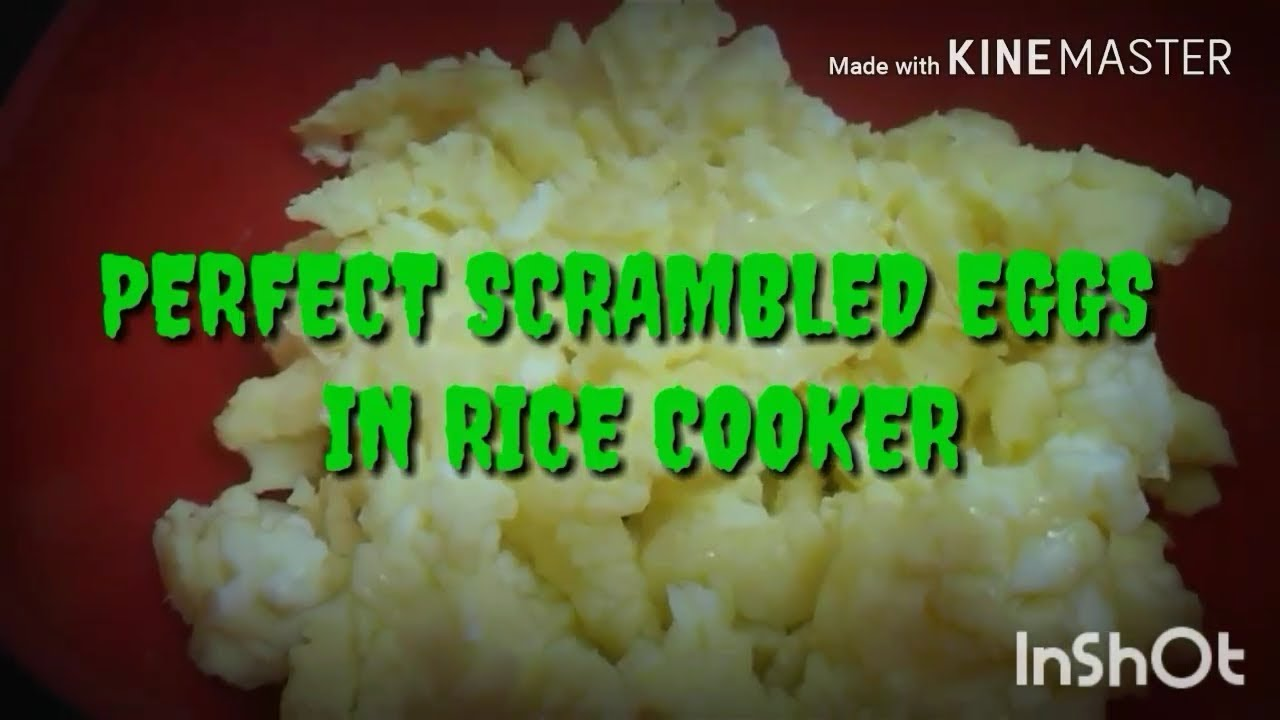 How To Cook Perfect Fluffy Scambled Eggs In Rice Cooker Easy Quick Scambled Eggs Youtube
