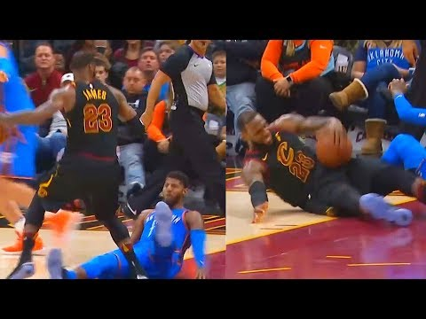 Download Youtube: LeBron James Drops Paul George then Falls Shortly After!