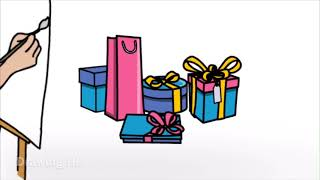 #Draw Let's draw: GIFTS, OSTRICH,TEDDY BEARS ........#DrawingHD #Colors