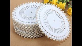Обзор,распаковка:булавки швейные-35 мм,480 штук с Aliexpress