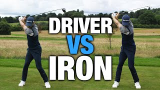 DRIVER SWING VS IRON SWING - THE DIFFERENCE   ME AND MY GOLF