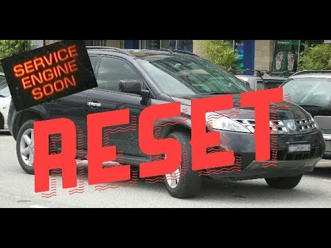 How to reset Service Engine soon Light on a 2007 Nissan Murano
