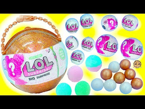 Download Youtube: LOL Surprise Giant Ball - Big & Lil Sisters Baby Dolls 50 Surprises Blind Bags + Bath Fizz Charms