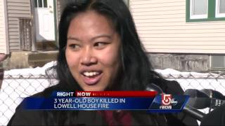 Boy, 3, dies in morning house fire