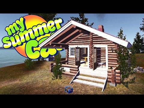 THE NEW LOG CABIN! Killing the Yellow Car + Police Chase - My Summer Car Gameplay Highlights Ep 42
