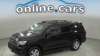 A99610LT Used 2016 Toyota Sequoia SR5 4WD SUV Black Test Drive, Review, For Sale