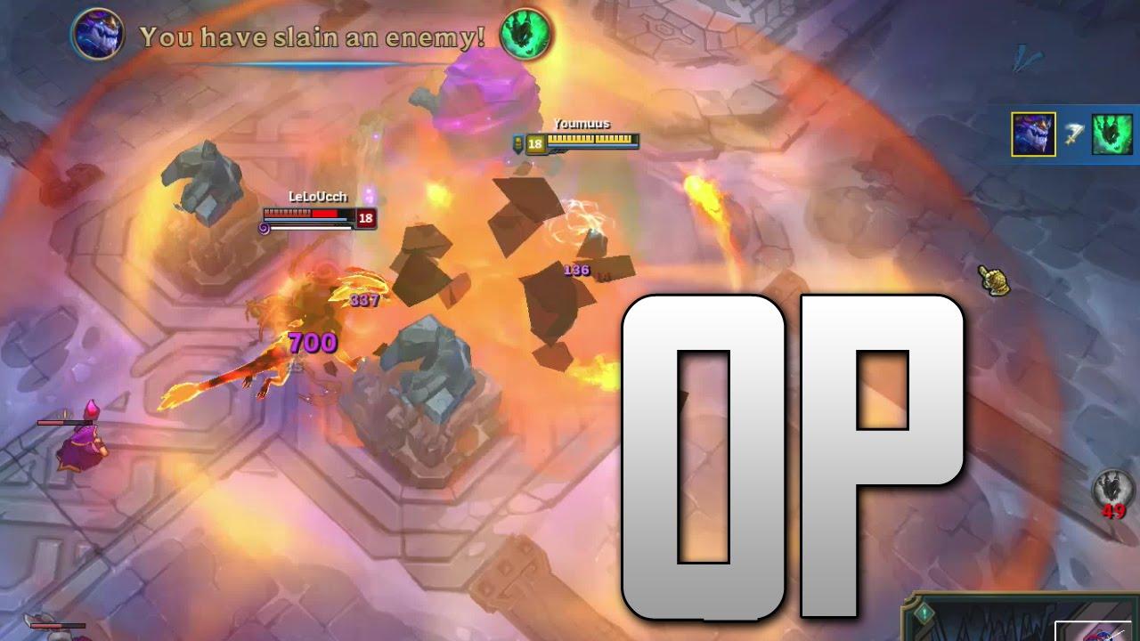 Aurelion sol OP on ARAM ( Q BIGGER THAN MAP ) [ League of legends ]