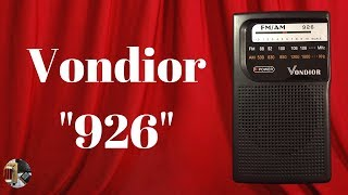 Vondior 926 AM FM Portable Radio Unboxing and Review