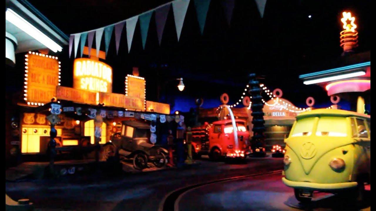 ... Night Time Cars Land Disney California Adventure Disneyland - YouTube