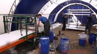 СНШ 1000 - изготовление декоративных фасадов из пенопласта(Видео работы станка по покрытию фасадных элементов эластичной штукатуркой., 2015-02-13T06:27:24.000Z)