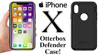 iPhone X - Otterbox Defender Case For iPhone X Unboxing & Hardware Review!