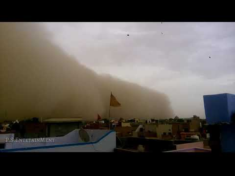 Power Full Sand Storm At Bikaner  First Sand Storm Of 2018 In Bikaner