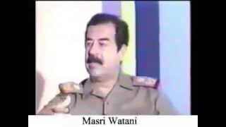 صدام حسين يذكر تقسيم العراق وتامر السعوديه وامريكا عليه