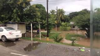 flood in San Pedro sula Honduras  サンペドロスーラ ホンジュラス 洪水