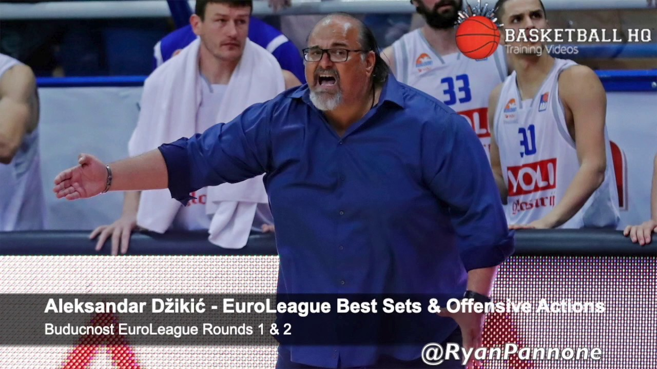18-19 Aleksandar Džikić  Buducnost EuroLeague Rounds 1 & 2 Best Sets & Actions