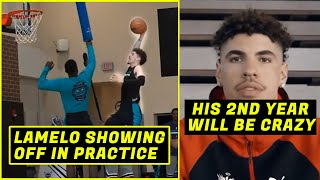 LAMELO BACK TO 100%!!! DUNKING IN PRACTICE!!! WILL LIANGELO JOIN HIM?