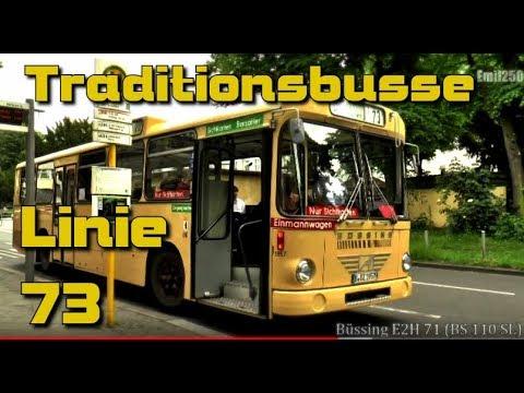 Berliner Traditionsbusse auf der Linie 73  (heute M46) - 24 Mai 2014