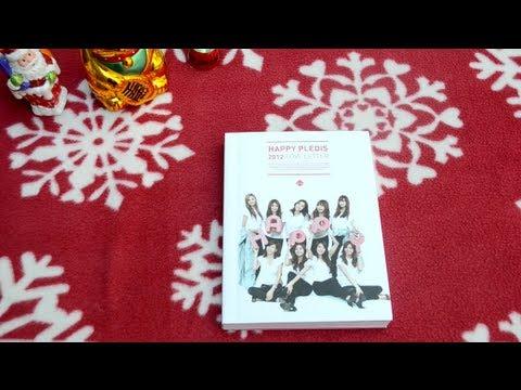 "unboxing Happy Pledis 2012 ""Love Letter"" book and CD afterschool orange caramel"