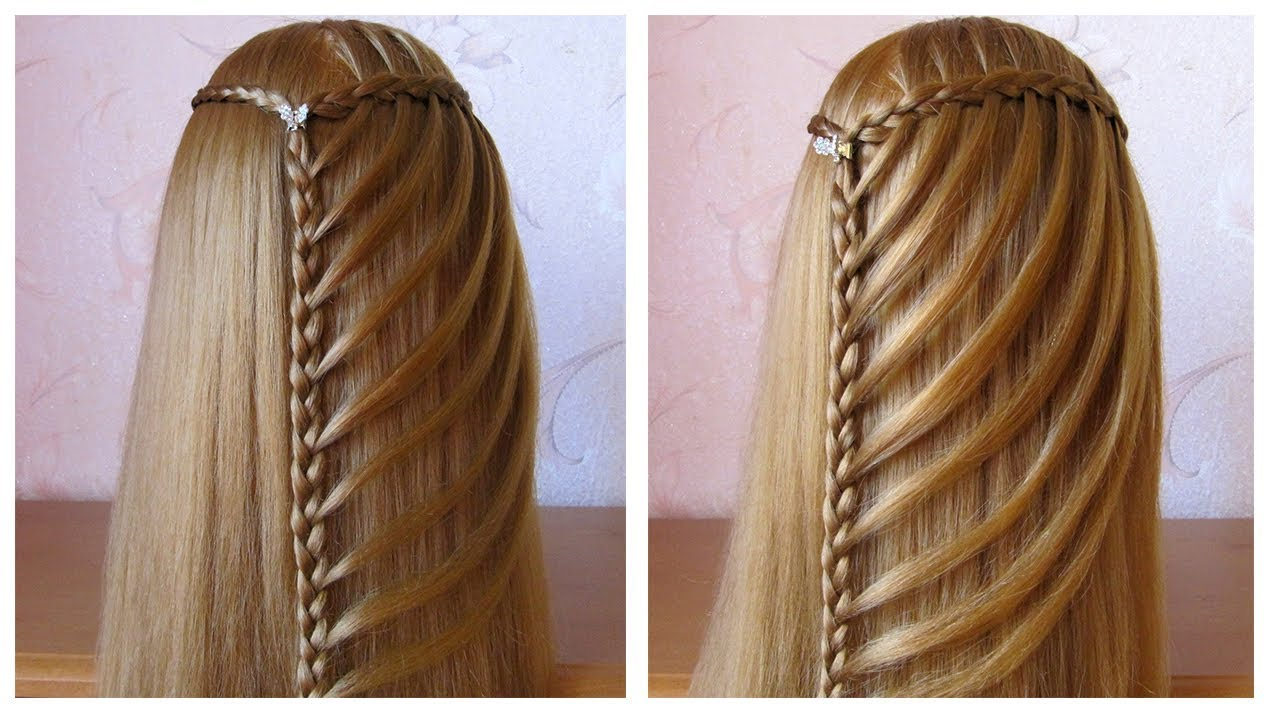 tuto tresse cascade facile coiffure simple pour tous les jours cheveux long youtube. Black Bedroom Furniture Sets. Home Design Ideas
