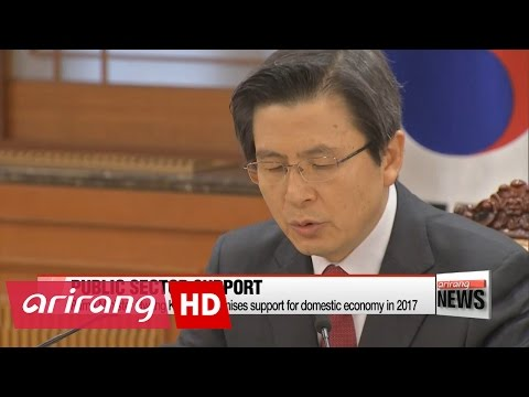 Korea's acting president vows support for domestic economy in 2017