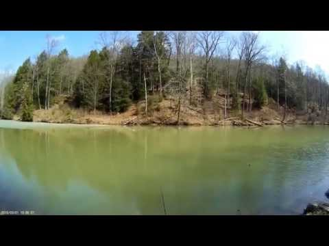 Trout Fishing Raccoon Creek State Park, Beaver County Pennsylvania 3-21-2015