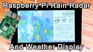 Raspberry Pi Rain Radar & Weather Dashboard screenshot 3