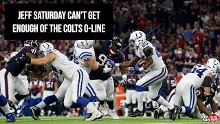 Jeff Saturday Can't Get Enough of the Colts O-Line