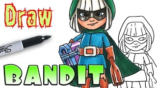 Draw the Bandit - Clash Royale - Coloring Pages