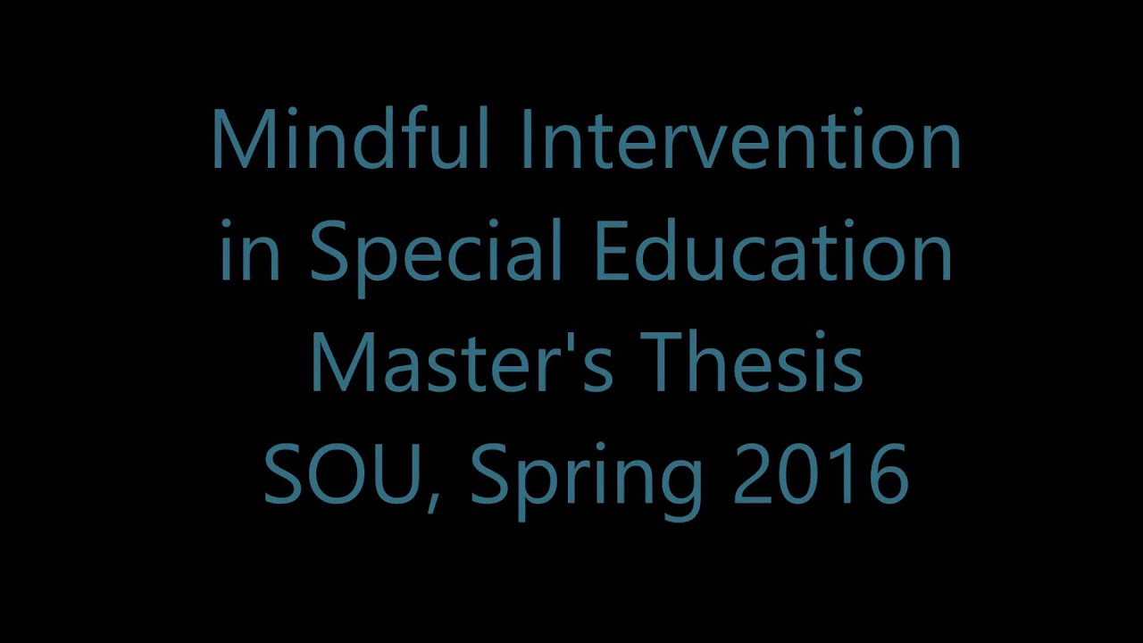 Special education thesis topics