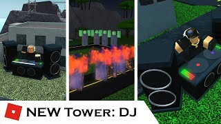 The NEW DJ Tower (All Upgrades) | Tower Reviews | Tower Battles [ROBLOX]