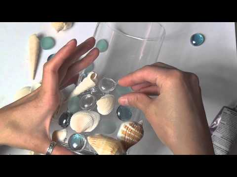 Beach Shell Vase Tutorial Youtube