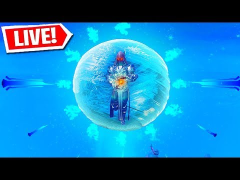 FORTNITE ICE SPHERE EVENT LIVE REACTION! (Fortnite Battle Royale LIVE Event)