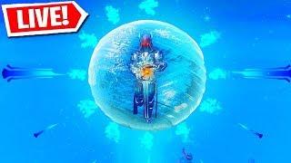 FORTNITE ICE SPHERE EVENT LIVE REACTION! (Fortnite Battle Royale LIVE Event)