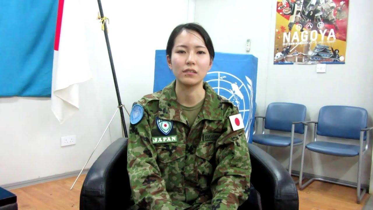 陸上自衛隊南スーダン派遣施設隊の女性隊員に聞く - YouTube