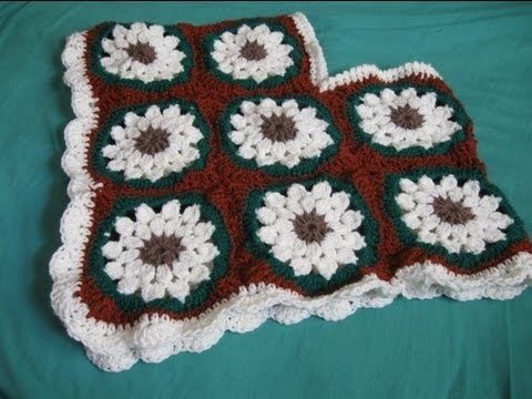 Childs Granny Square Poncho - Crochet Tutorial - YouTube