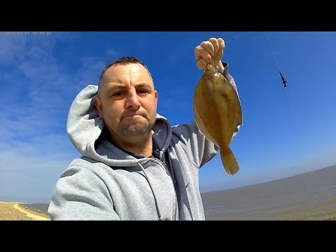 Great Yarmouth North Beach Fishing   4/4/17 Dave Harding